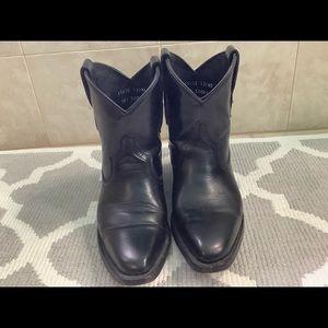 John Fluevog!   Unisex black cowboy booties